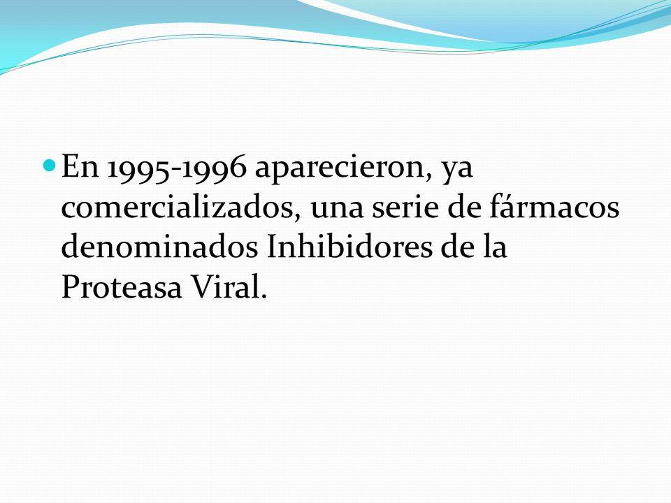 En 1995-1996 aparecieron, ya comercializados, una serie de fármacos denominados Inhibidores de la Proteasa Viral.