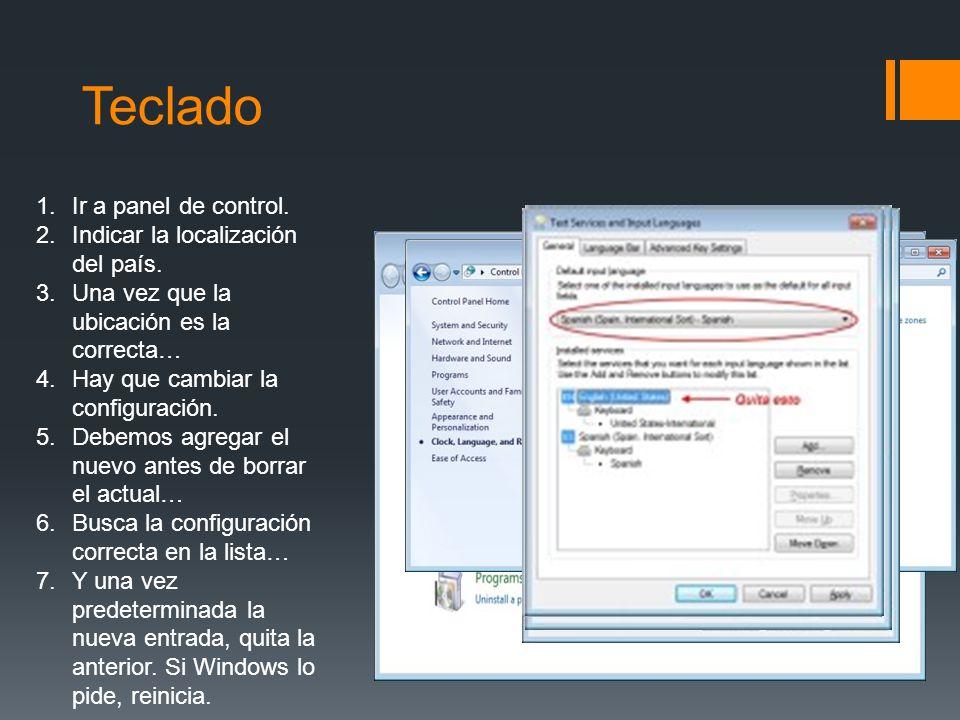 Ratón Para abrir Mouse, haga clic en el botón Inicio, en Panel de control, en Hardware y, a continuación, en Mouse.
