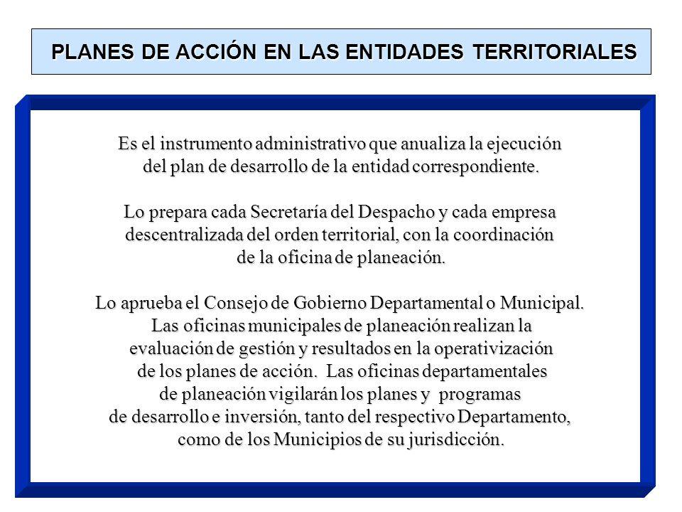 4. EJECUCIÓN DEL PLAN DE DESARROLLO Con base en el plan de desarrollo aprobado, cada Secretaría y Departamento Administrativo, preparará, con la coord