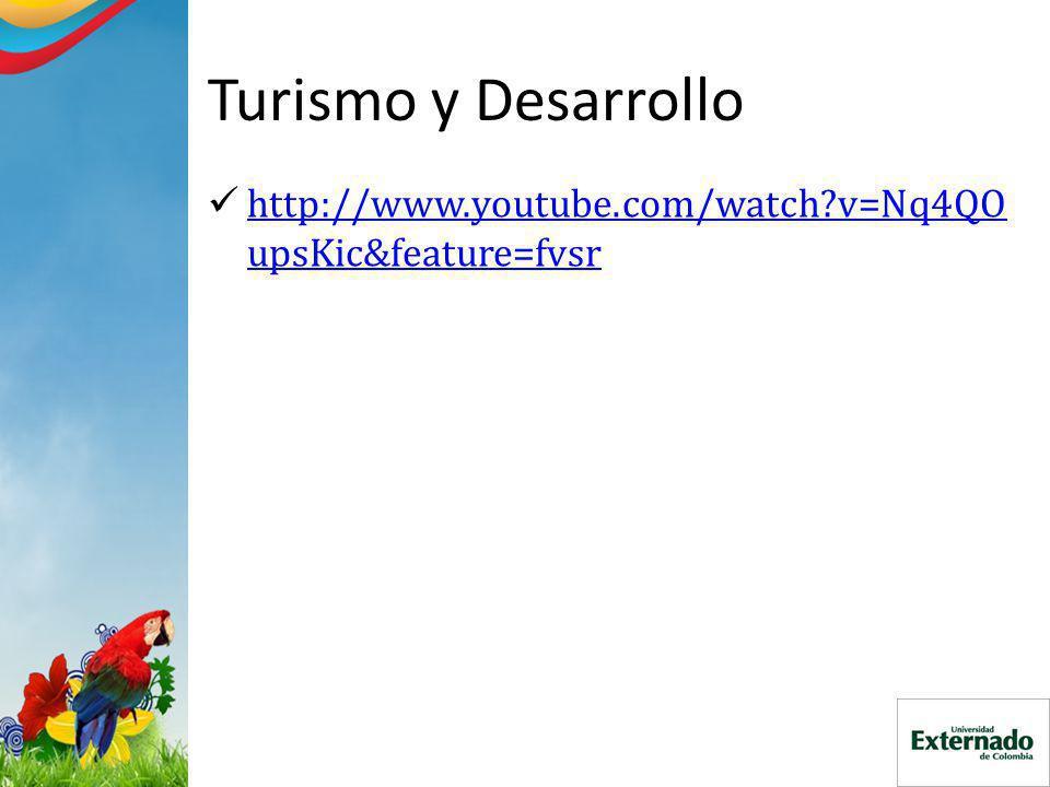 Turismo y Desarrollo http://www.youtube.com/watch?v=Nq4QO upsKic&feature=fvsr http://www.youtube.com/watch?v=Nq4QO upsKic&feature=fvsr