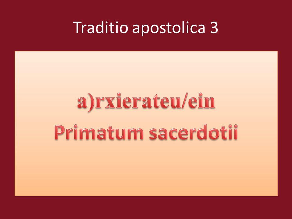 Traditio apostolica 3