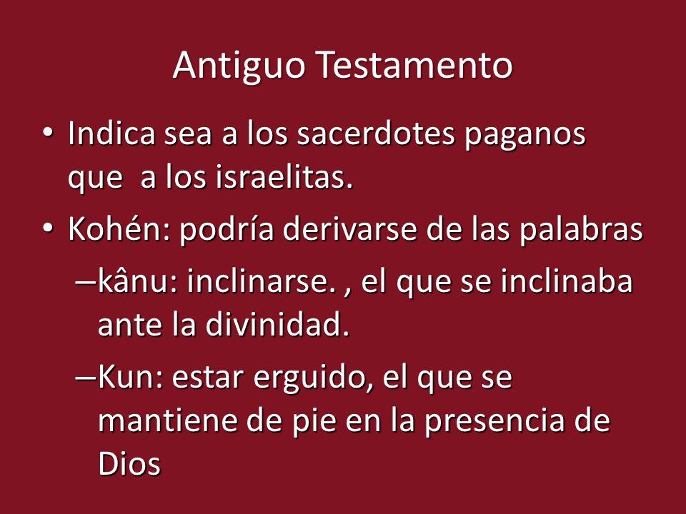 Indica sea a los sacerdotes paganos que a los israelitas. Indica sea a los sacerdotes paganos que a los israelitas. Kohén: podría derivarse de las pal