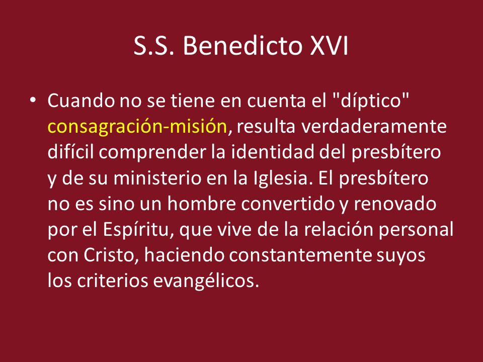 S.S. Benedicto XVI Cuando no se tiene en cuenta el