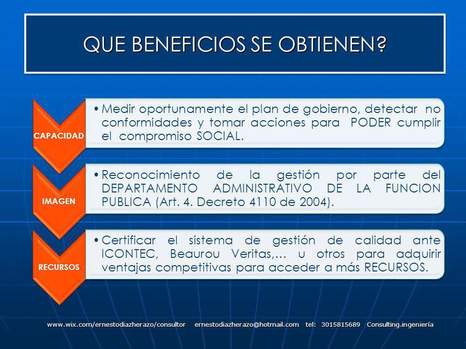 QUE BENEFICIOS SE OBTIENEN? www.wix.com/ernestodiazherazo/consultor ernestodiazherazo@hotmail.com tel: 3015815689 Consulting.ingeniería CAPACIDAD Medi