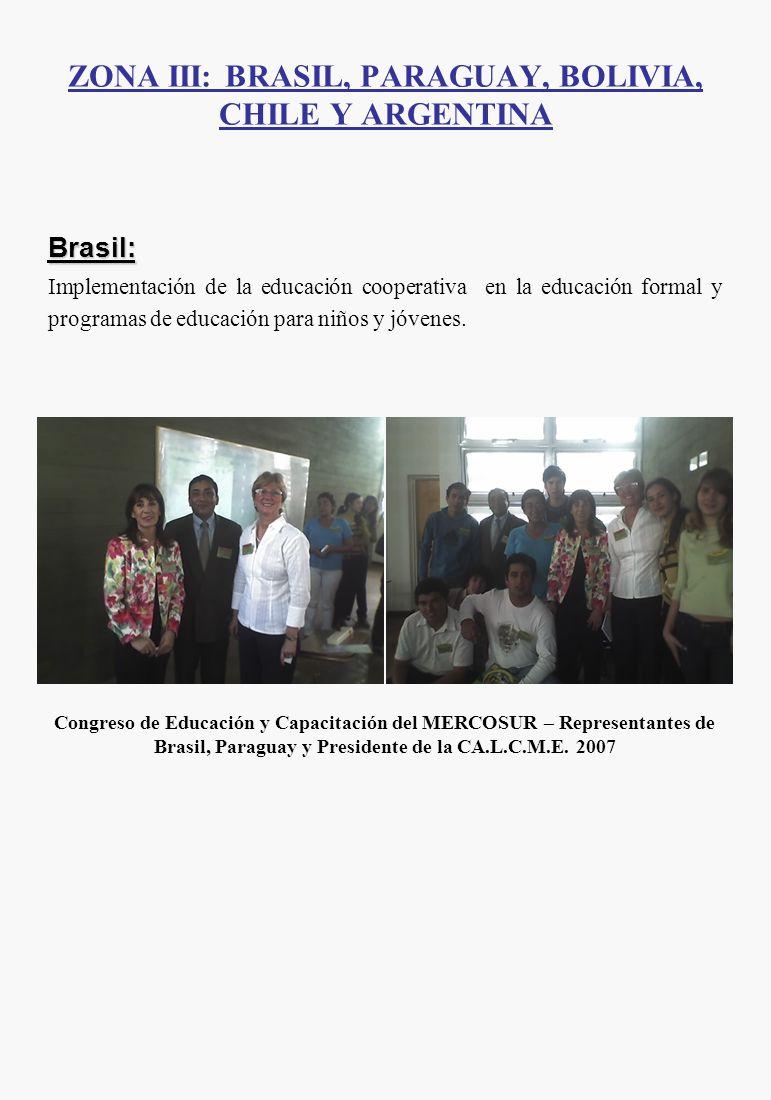Brasil: Implementación de la educación cooperativa en la educación formal y programas de educación para niños y jóvenes. Congreso de Educación y Capac