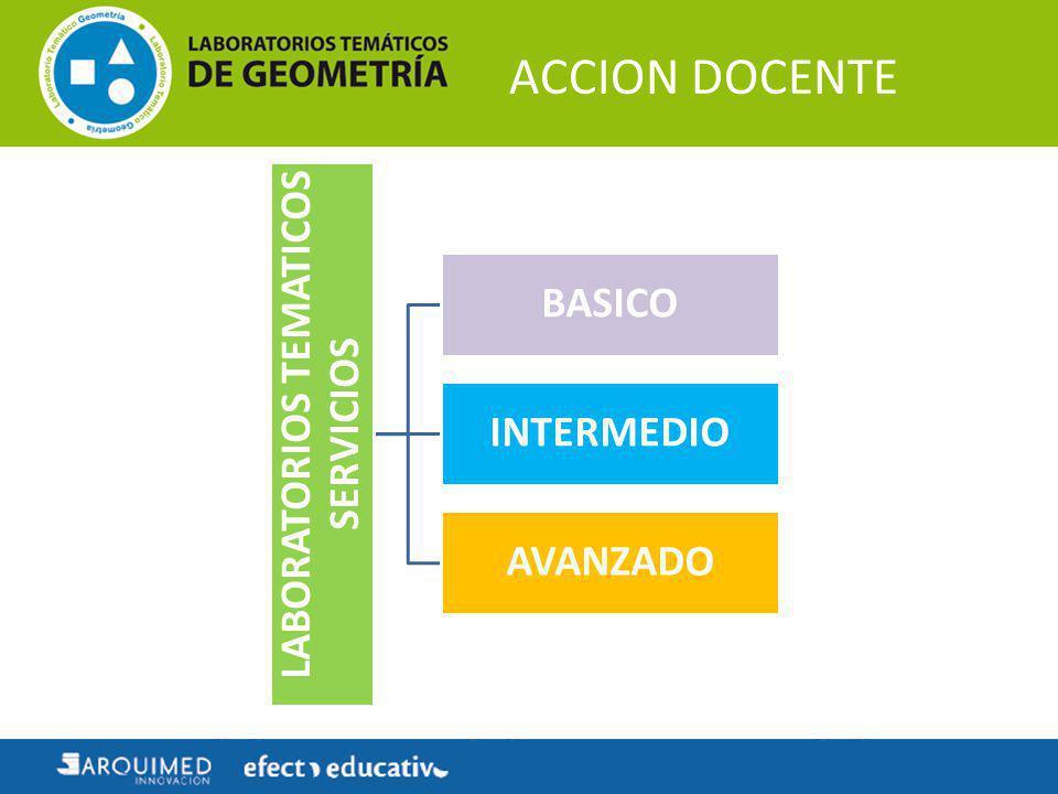 ACCION DOCENTE LABORATORIOS TEMATICOS SERVICIOS BASICO INTERMEDIO AVANZADO
