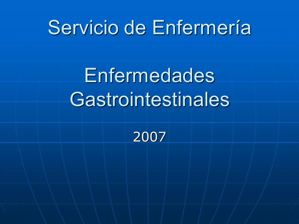 Servicio de Enfermería Enfermedades Gastrointestinales 2007