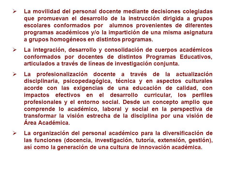 La movilidad del personal docente mediante decisiones colegiadas que promuevan el desarrollo de la instrucción dirigida a grupos escolares conformados