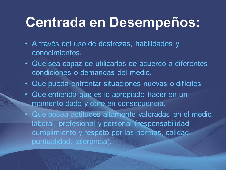 La competencia es una Unidad: Conocimientos (saberes teóricos) Habilidades (saberes aplicativos) Actitudes y Valores (disposiciones emocionales y principios éticos)