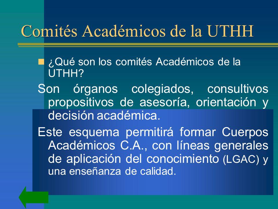 Comités Académicos de la UTHH ¿Qué son los comités Académicos de la UTHH.