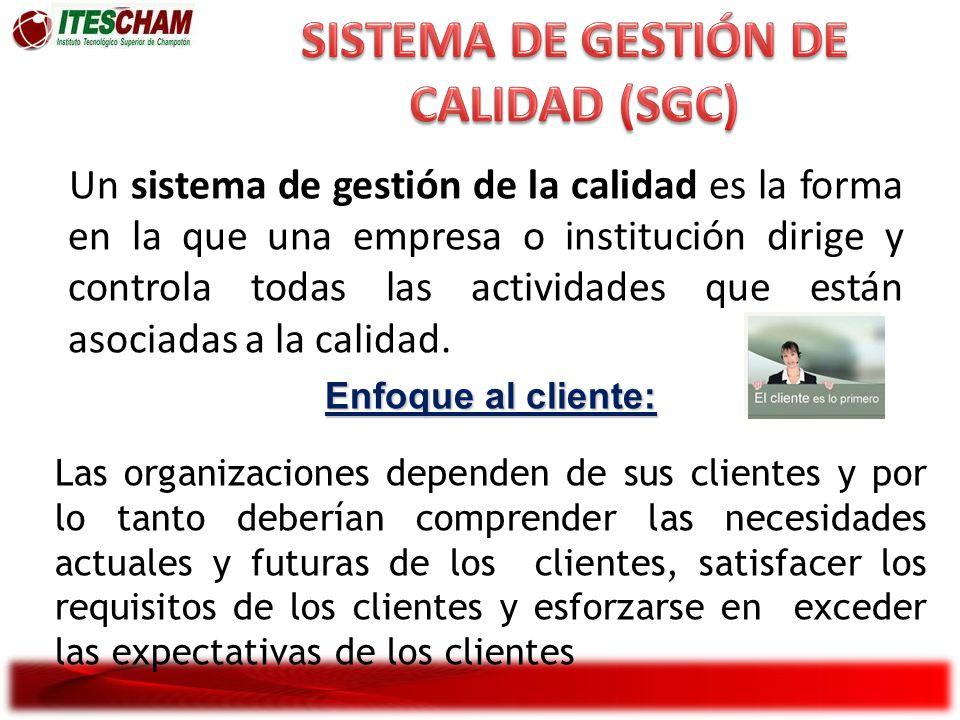 Un sistema de gestión de la calidad es la forma en la que una empresa o institución dirige y controla todas las actividades que están asociadas a la c