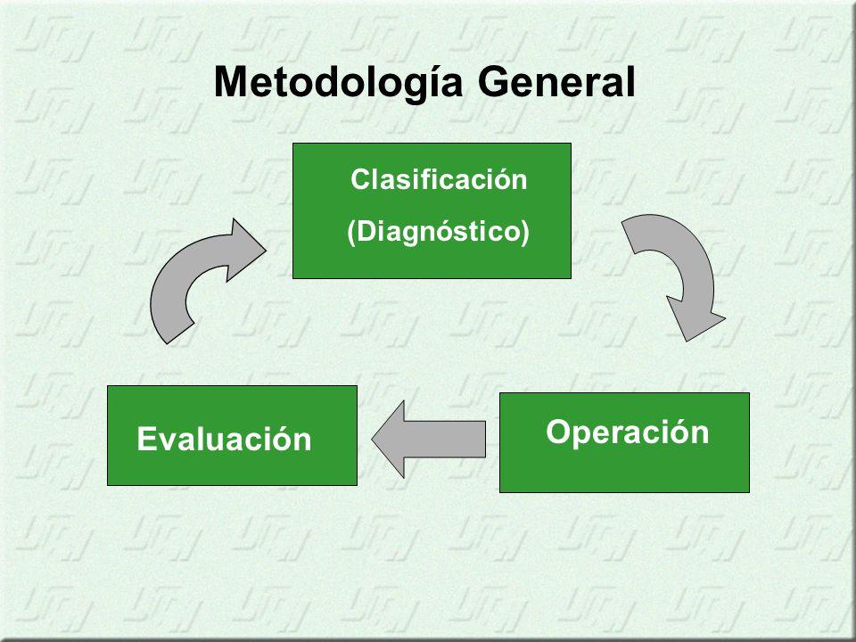 Metodología General Clasificación (Diagnóstico) Operación Evaluación