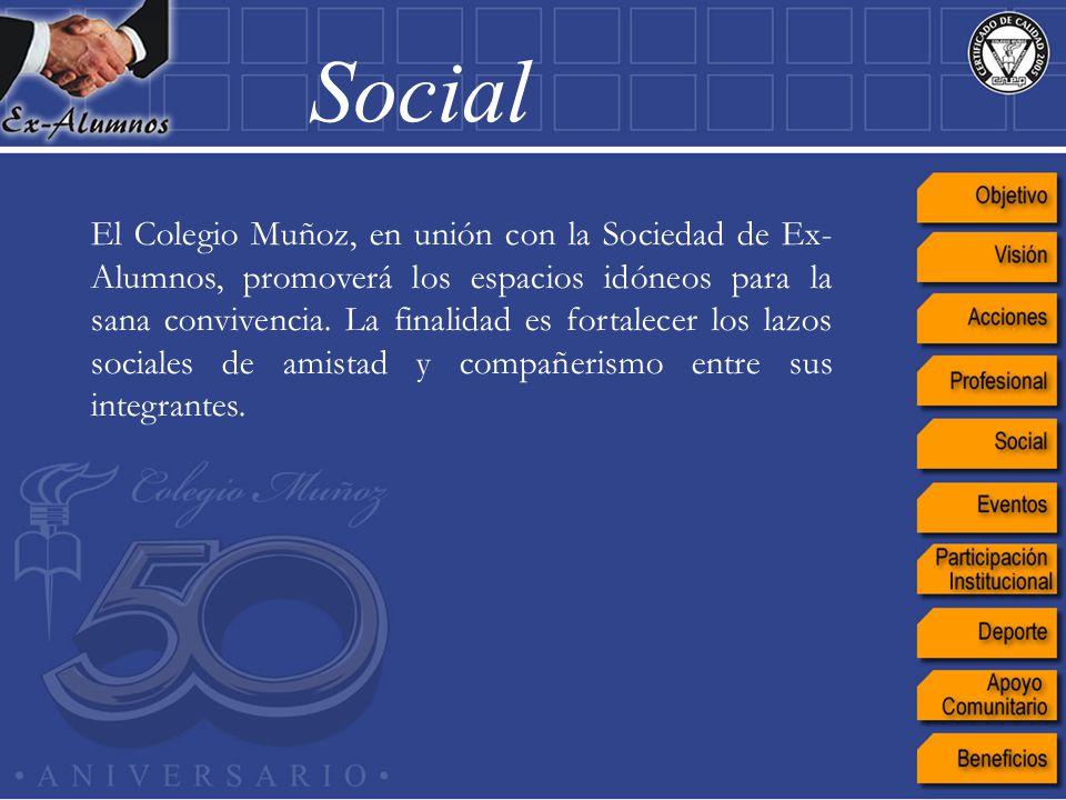 El Colegio Muñoz, en unión con la Sociedad de Ex- Alumnos, promoverá los espacios idóneos para la sana convivencia. La finalidad es fortalecer los laz