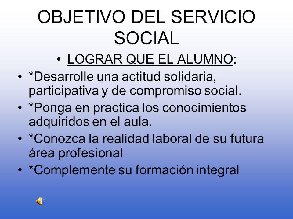 ¿ QUE ES EL SERVICIO SOCIAL.