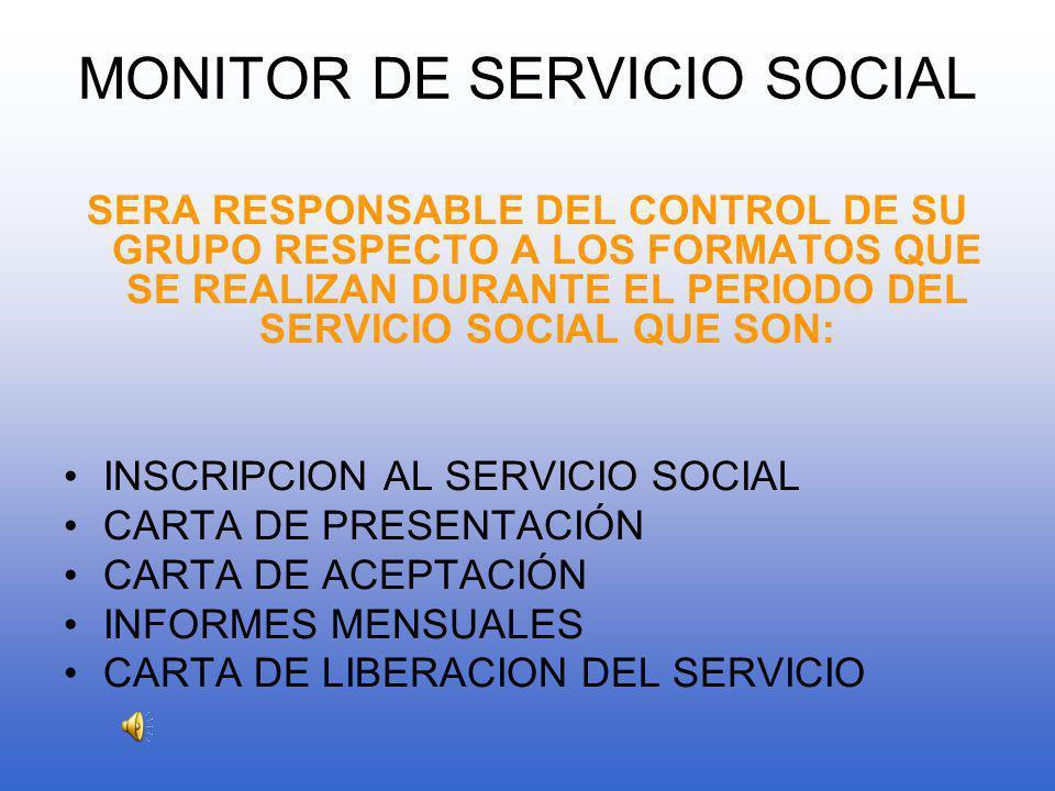 MODALIDADES DEL SEVICIO SOCIAL (EXISTEN 2 FORMAS) INTERNO EXTERNO SERVICIO SOCIAL INTERNO : SE REALIZA EN EL PLANTEL BIBLIOTECA*ACADEMICO*CULTURAL*DEPORTIVA* SERVICIO SOCIAL EXTERNO SE REALIZA EN INSTITUCIONES PUBLICAS *SSA*IMSS*ISSSTE*CRUZ ROJA*BOMBEROS*AYUNTAMIENTO*SINDICATURAS*PRIMARIAS *SECUNDARIAS*PREPARATORIAS*UNIVERSIDAD*MUSEO