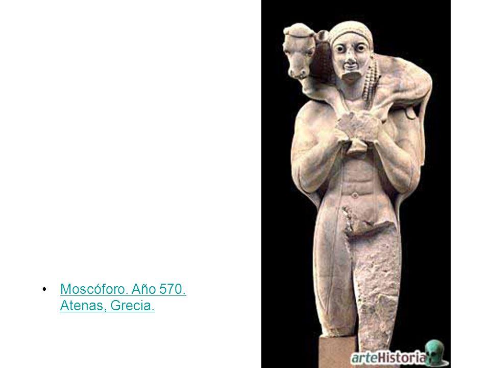 Moscóforo. Año 570. Atenas, Grecia.Moscóforo. Año 570. Atenas, Grecia.