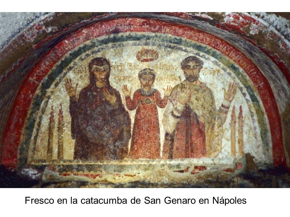 Fresco en la catacumba de San Genaro en Nápoles