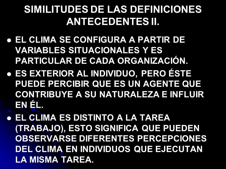 SIMILITUDES DE LAS DEFINICIONES ANTECEDENTES II.