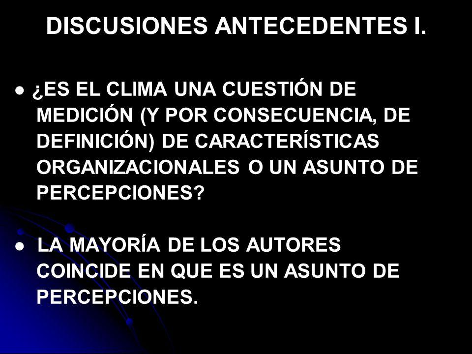 DISCUSIONES ANTECEDENTES I.
