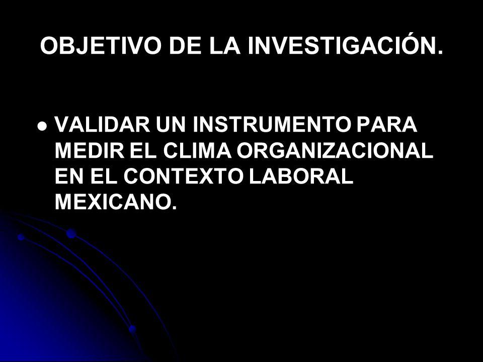 OBJETIVO DE LA INVESTIGACIÓN.