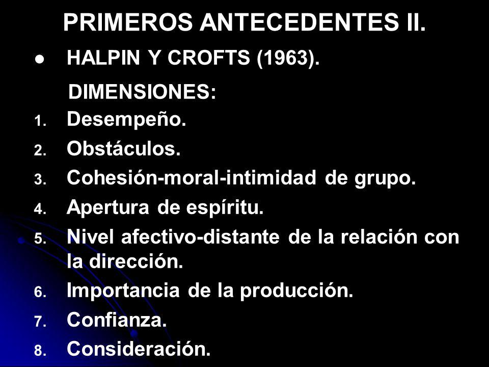 PRIMEROS ANTECEDENTES II.HALPIN Y CROFTS (1963). DIMENSIONES: 1.