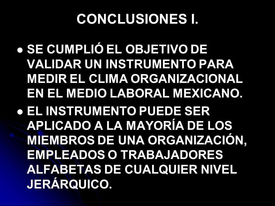 CONCLUSIONES I.