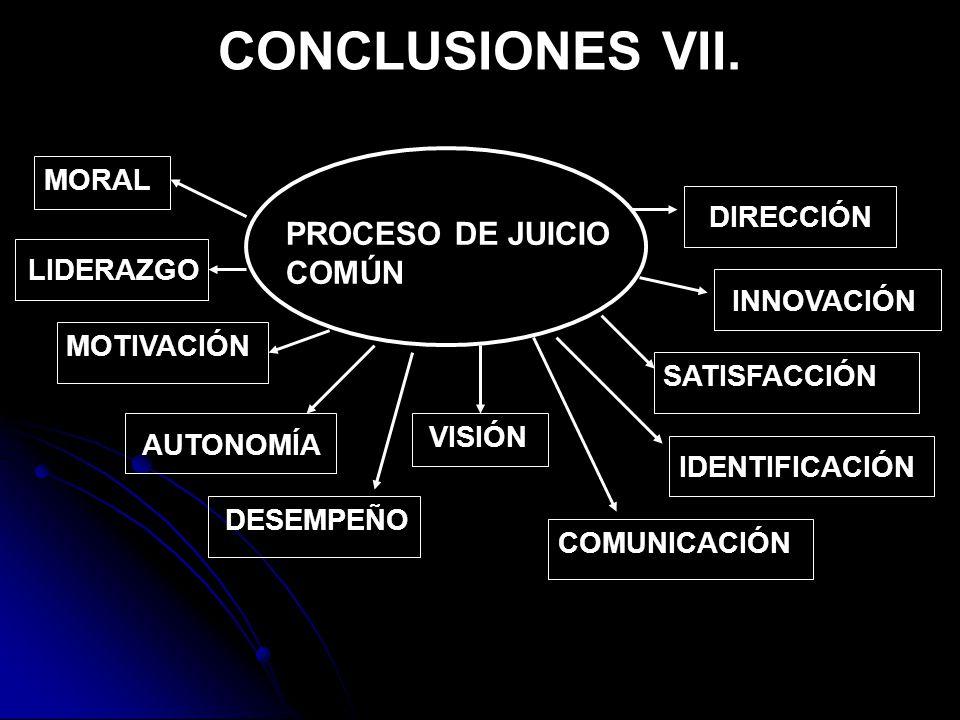 CONCLUSIONES VII.