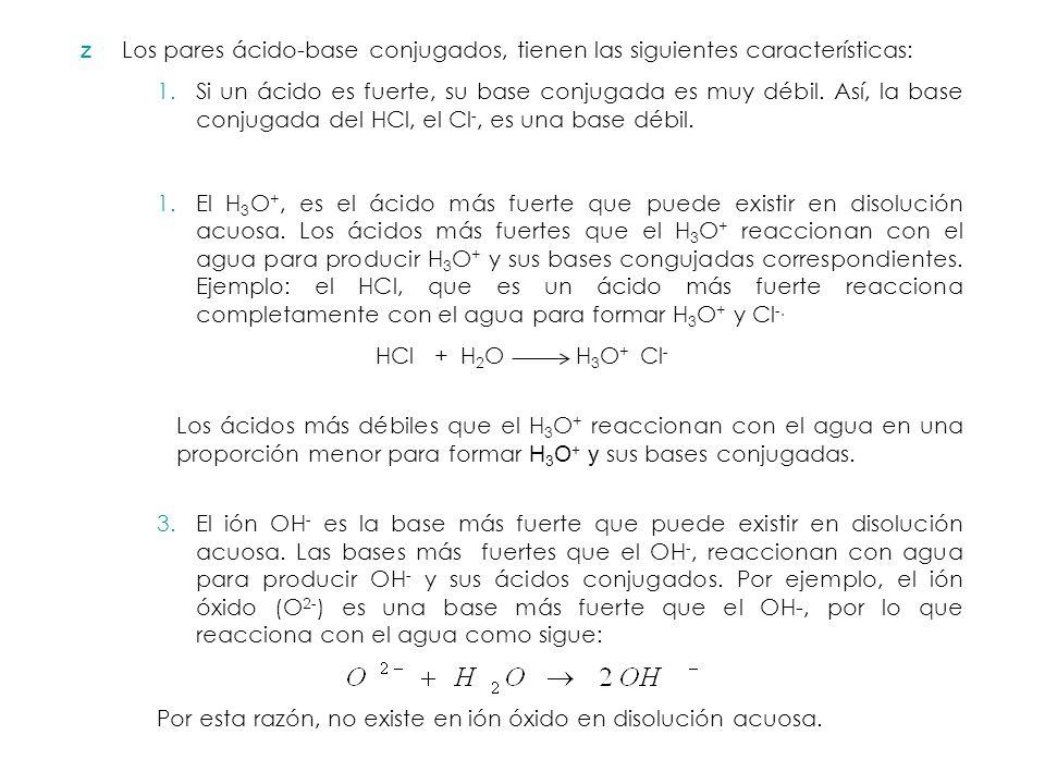 Fuerza de cidos y bases ppt descargar si un cido es fuerte su base conjugada es muy dbil as la base conjugada del hcl el cl es una base dbil urtaz Choice Image
