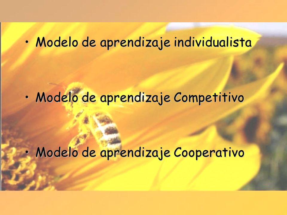 Modelo de aprendizaje individualistaModelo de aprendizaje individualista Modelo de aprendizaje CompetitivoModelo de aprendizaje Competitivo Modelo de