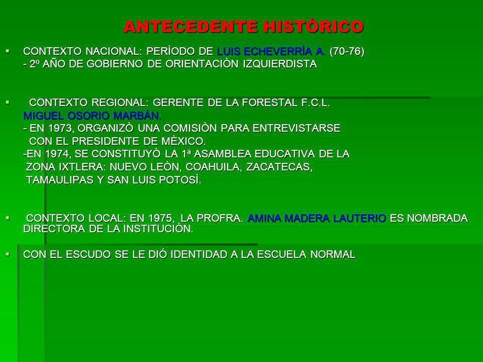 ANTECEDENTE HISTÒRICO CONTEXTO NACIONAL: PERÌODO DE LUIS ECHEVERRÌA A. (70-76) CONTEXTO NACIONAL: PERÌODO DE LUIS ECHEVERRÌA A. (70-76) - 2º AÑO DE GO
