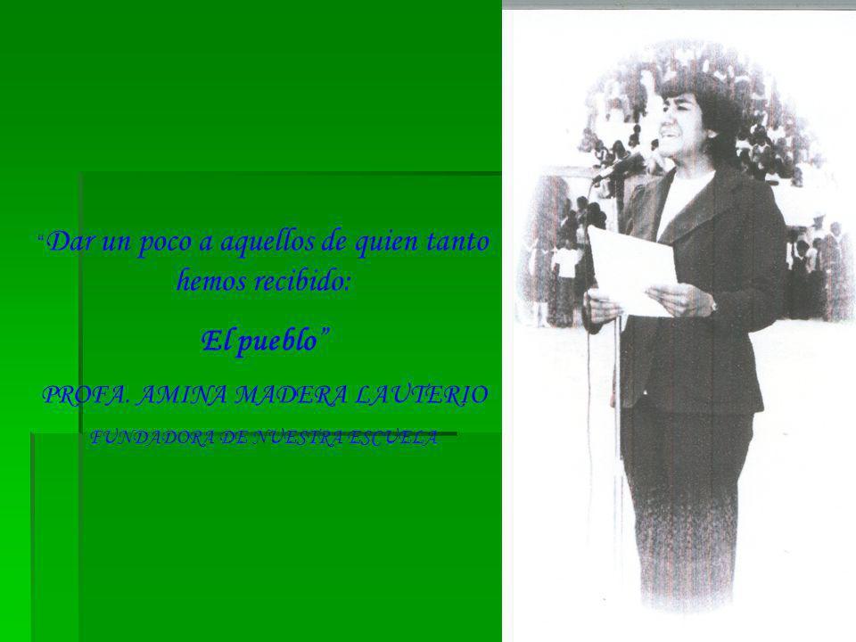 INICIO SIMBÓLICO DE CLASES EL 27 DE OCTUBRE DE 1975 POR EL PROF.