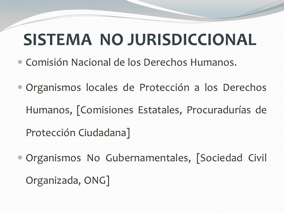 SISTEMA NO JURISDICCIONAL Comisión Nacional de los Derechos Humanos. Organismos locales de Protección a los Derechos Humanos, [Comisiones Estatales, P
