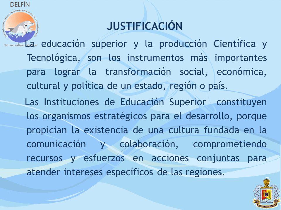 La educación superior y la producción Científica y Tecnológica, son los instrumentos más importantes para lograr la transformación social, económica,