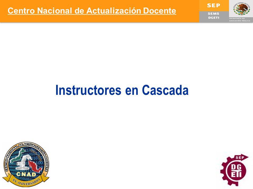 8 Instructores en Cascada Centro Nacional de Actualización Docente