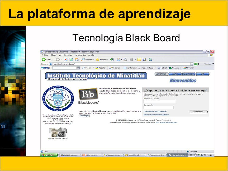 La plataforma de aprendizaje Tecnología Black Board