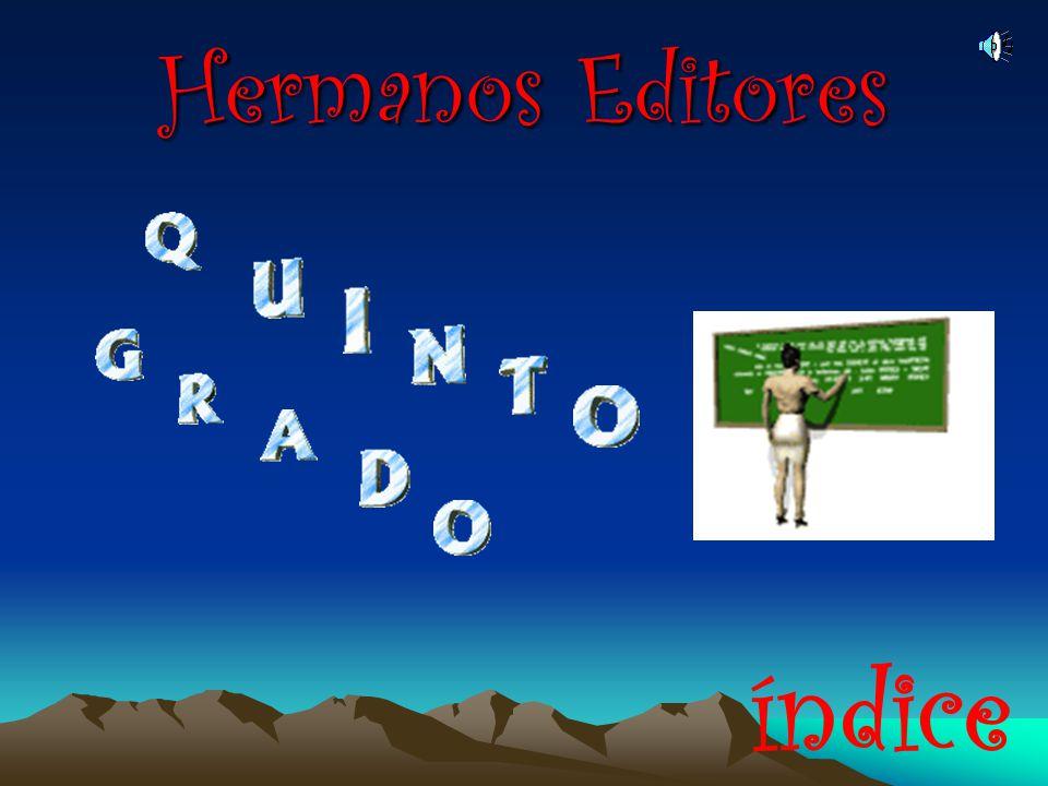 Hermanos Editores índice