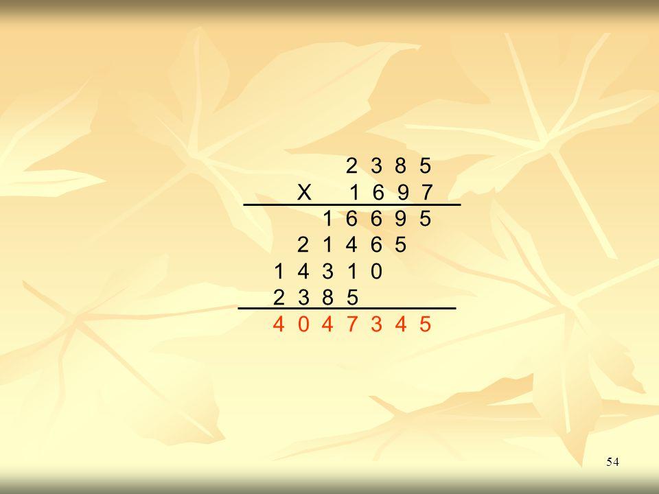 54 2 3 8 5 X 1 6 9 7 1 6 6 9 5 2 1 4 6 5 1 4 3 1 0 2 3 8 5 4 0 4 7 3 4 5