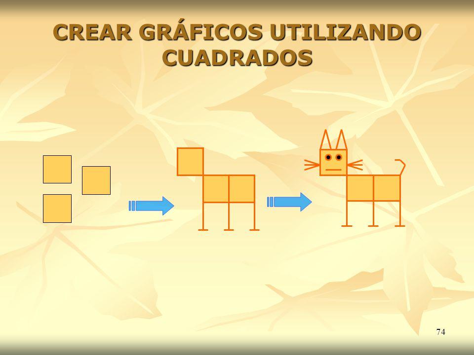 74 CREAR GRÁFICOS UTILIZANDO CUADRADOS