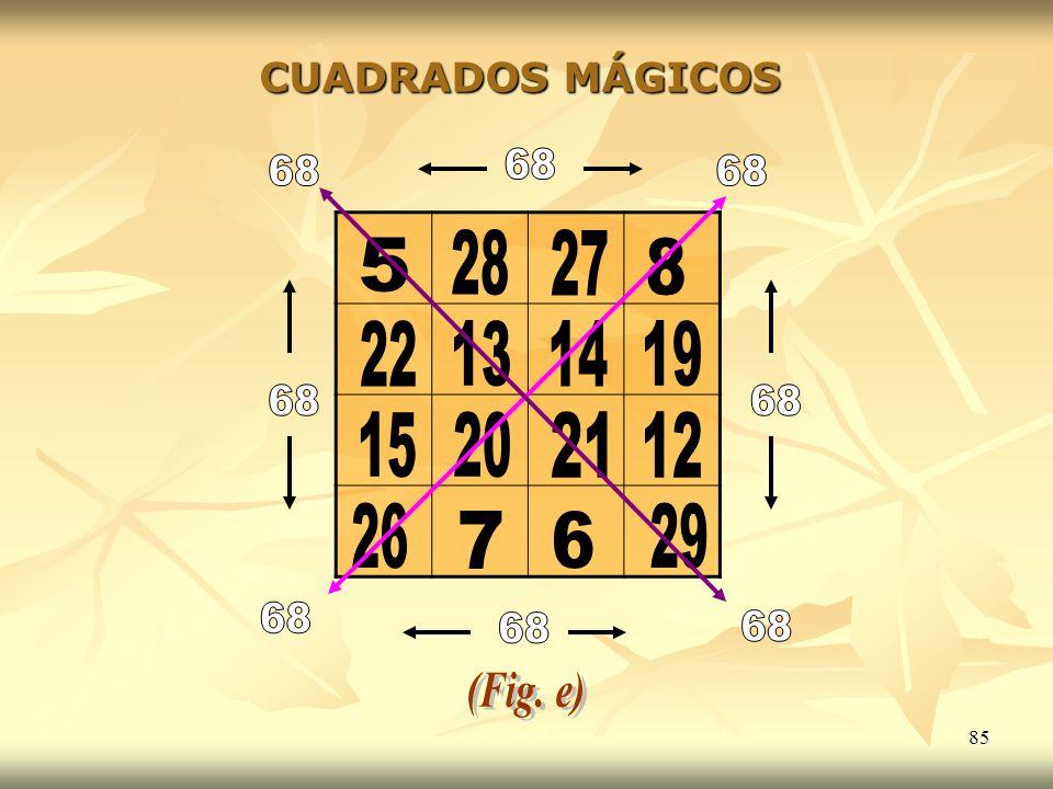 85 CUADRADOS MÁGICOS