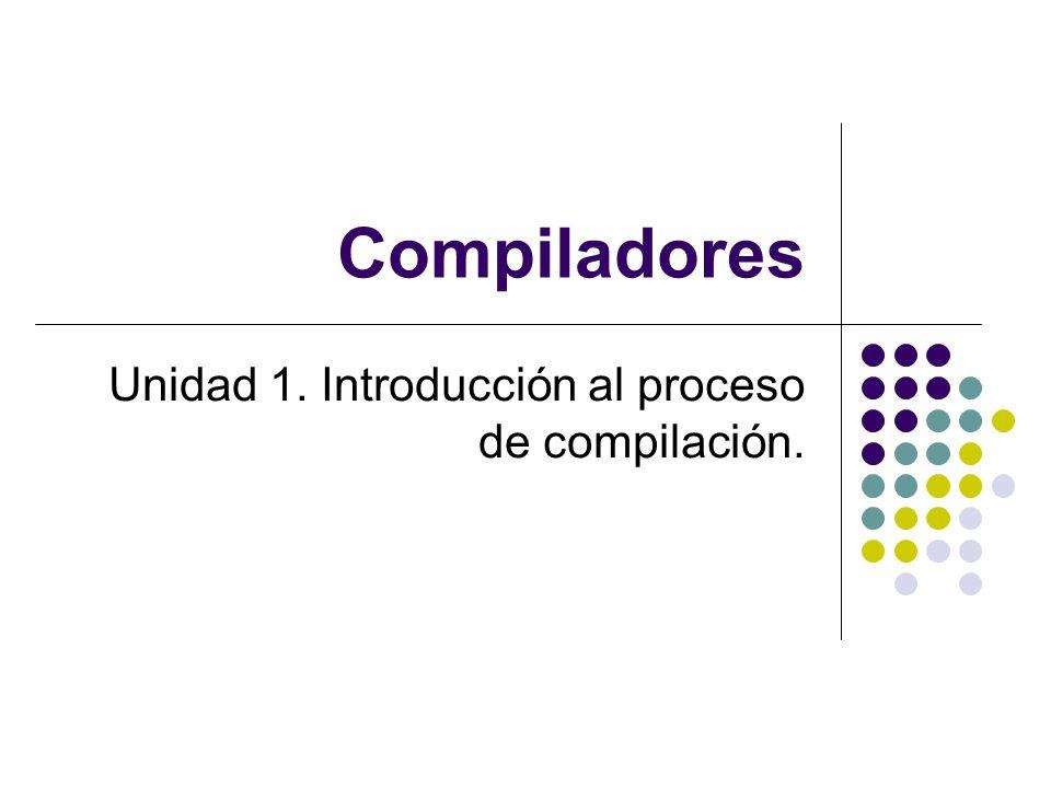 Compiladores Unidad 1. Introducción al proceso de compilación.