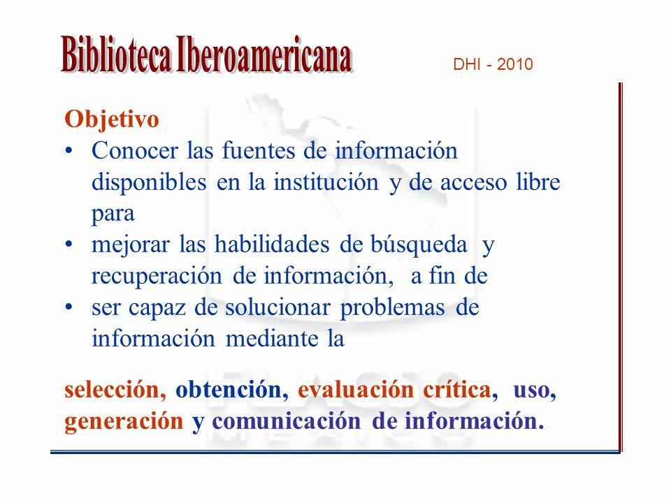 DHI - 2010 Agradeceremos respetar las siguientes normas: 1.