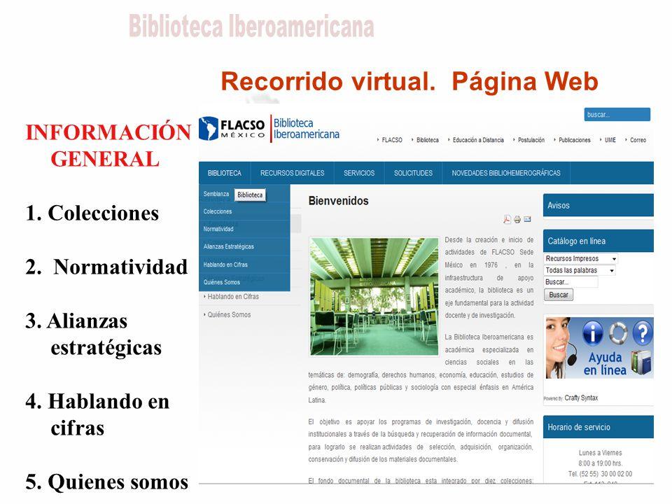 Recorrido virtual. Página Web INFORMACIÓN GENERAL 1.