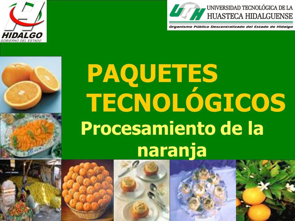 PAQUETES TECNOLÓGICOS Procesamiento de la naranja