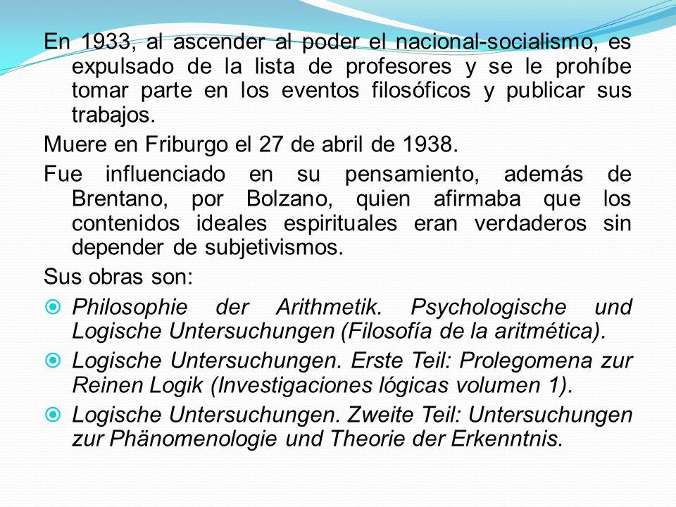 3.1 LA FENOMENOLOGÍA ENTRE 1930 Y 1970; REPRESENTANTES JOSÉ GAOS.