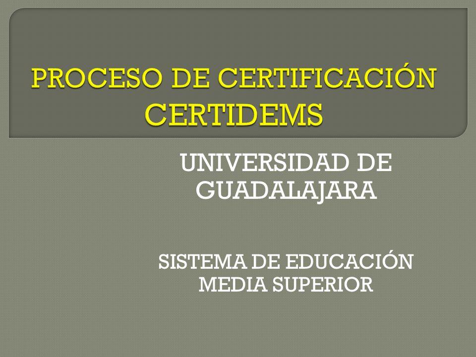 UNIVERSIDAD DE GUADALAJARA SISTEMA DE EDUCACIÓN MEDIA SUPERIOR