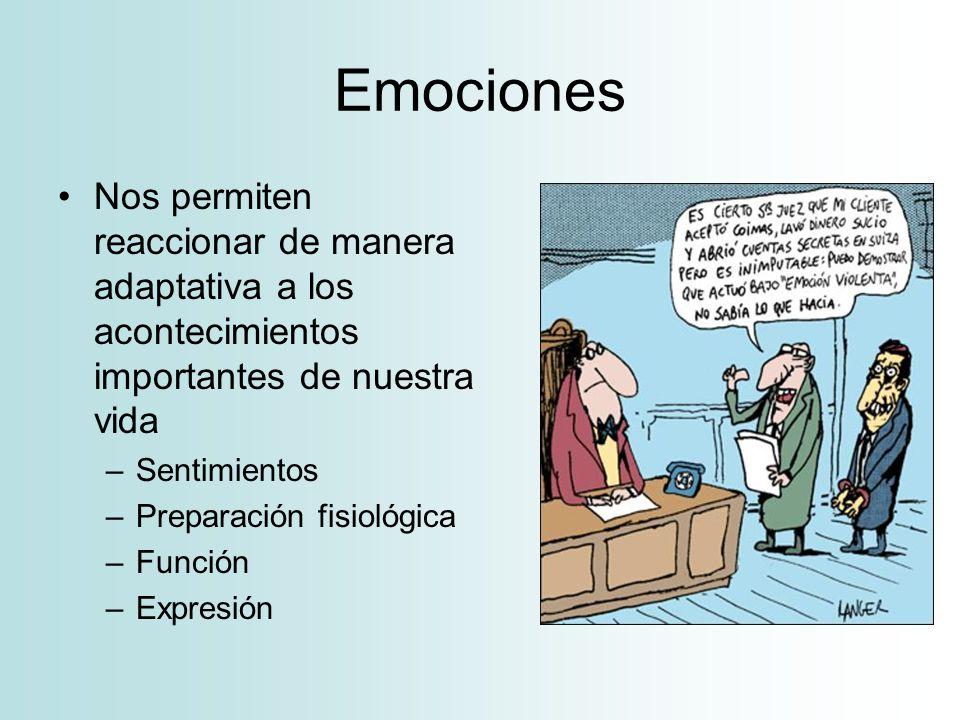 Expresiones de la motivación Conducta –Esfuerzo –Latencia –Persistencia –Elección –Probabilidad de respuesta –Expresiones faciales –Expresión corporal Fisiología (Psicofisiología) Autovaloración
