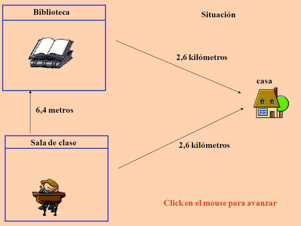 Sala de clase 2,6 kilómetros casa Nicomedes vive a 2,6 kilómetros de distancia de la escuela 2,6 kilómetros son 2 kilómetros + 0,6 kilómetros 010,5 1 km.