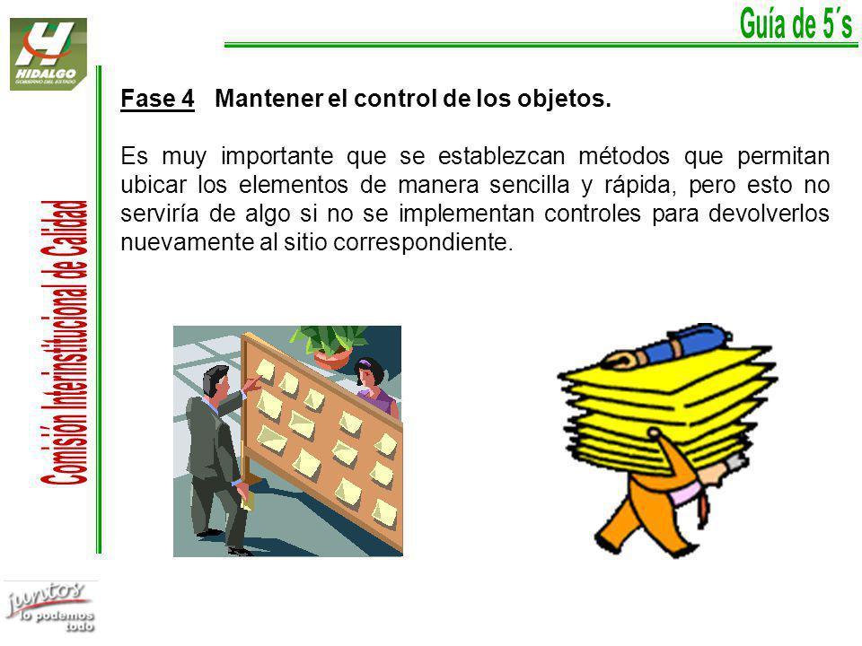 Fase 4 Mantener el control de los objetos.