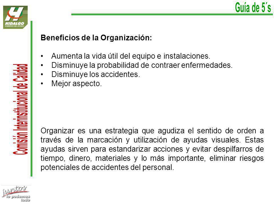 Beneficios de la Organización: Aumenta la vida útil del equipo e instalaciones.