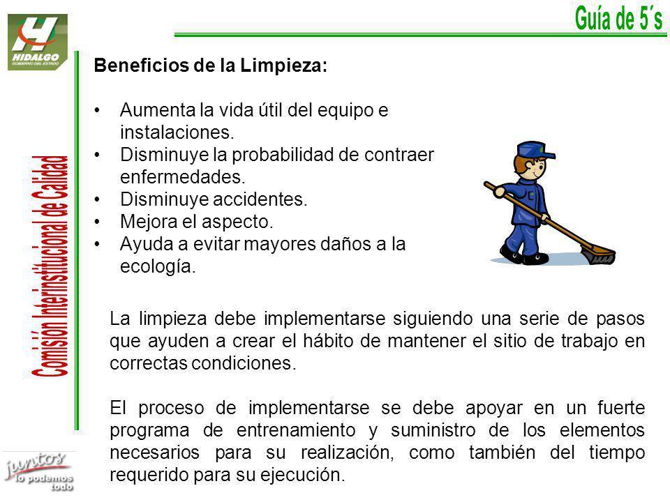 Beneficios de la Limpieza: Aumenta la vida útil del equipo e instalaciones.